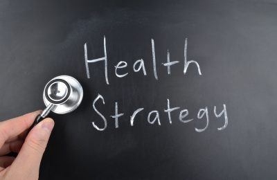 A doctor making a health strategy