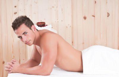 Man on a massage table